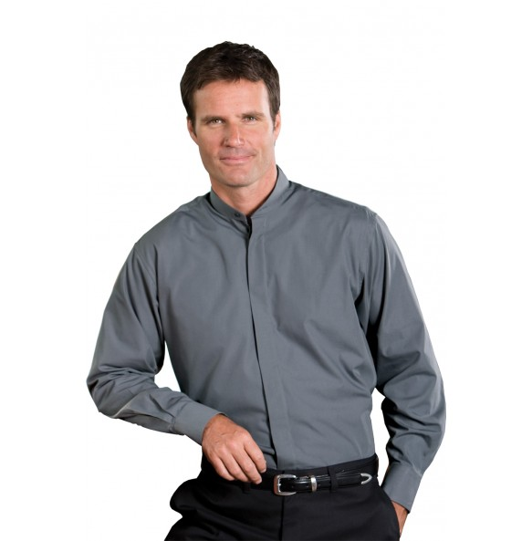 Classic Banded Collar Dress Shirt