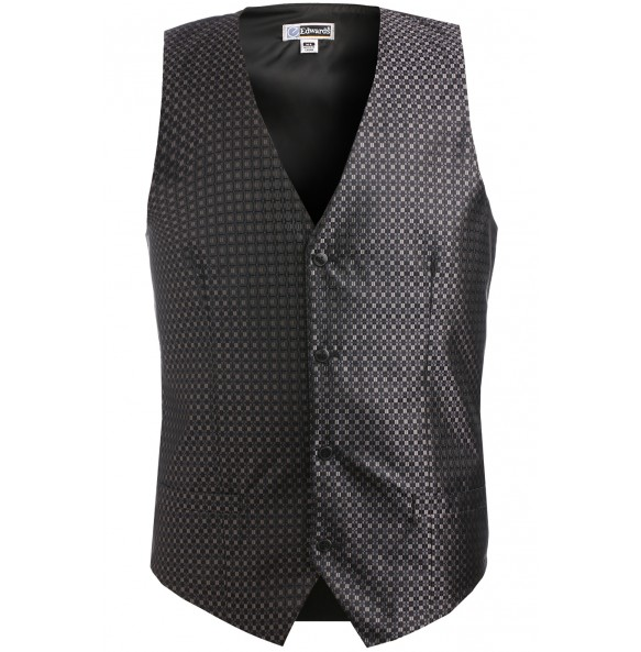 Grid Brocade Formal Vest
