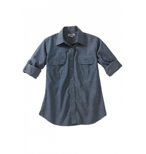 Chambray Roll Up Sleeve Shirt