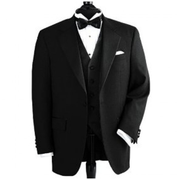 Vegan Tuxedo Jacket, Notch Lapel