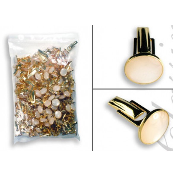 Gold Metal Cuff Links - 144 pieces