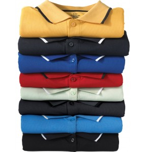 Stay-Dry™ Moisture Wicking Polo with Tipped Collar