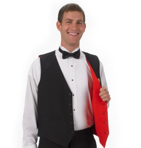 Reversible Full-back Formal Vest - Red/Black
