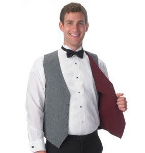 Reversible Full-back Formal Vest - Grey/Burgundy