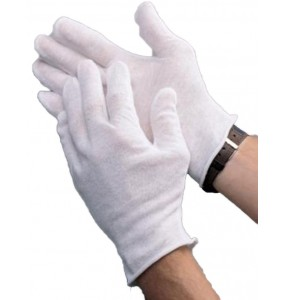 Lightweight White Cotton Gloves