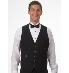 """Vegan """"Silky Back"""" Adjustable Gold Button Vest"""