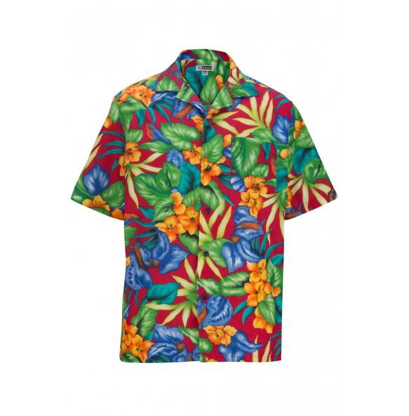 Tropical Print Camp Shirt