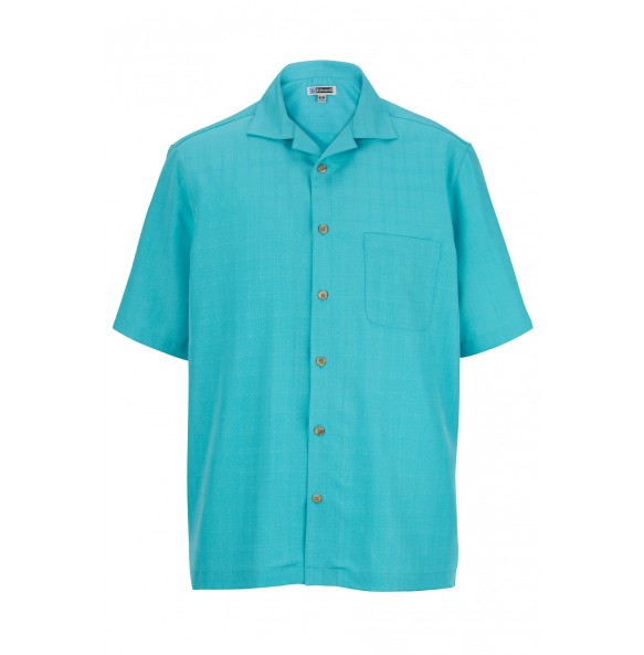 1030 FREE SHIPPING! Edwards Unisex Jacquard Batiste Camp Shirt