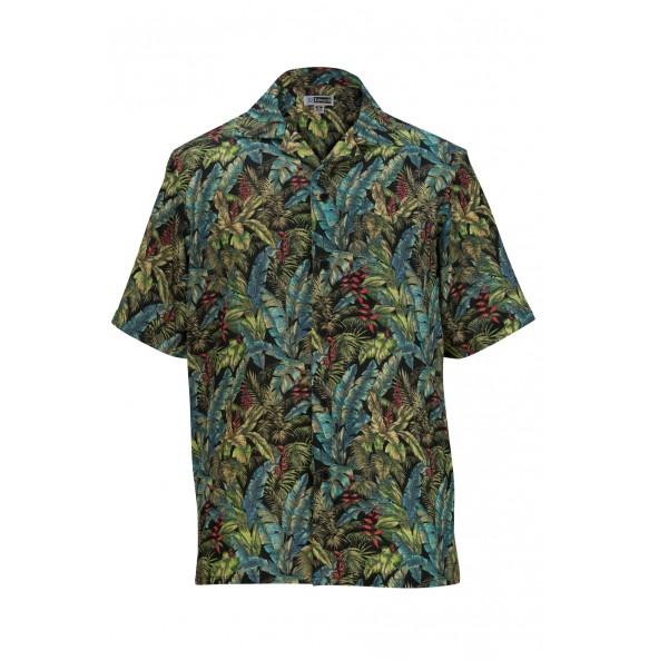 Tropical Leaf Camp Shirt