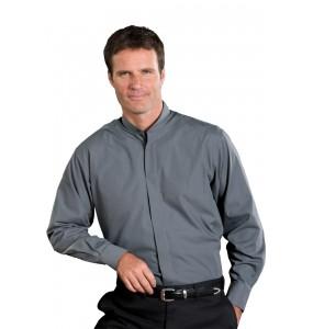 Classic Banded Collar Dress Shirt