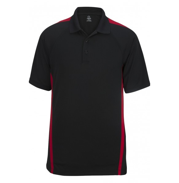 Snag-Proof Color Block Short Sleeve Polo