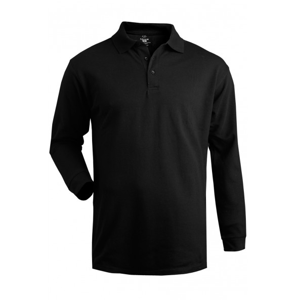 100% Cotton Performance Long Sleeve Polo