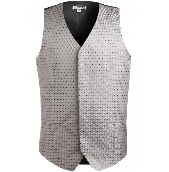 Diamonds And Dots Brocade Vest
