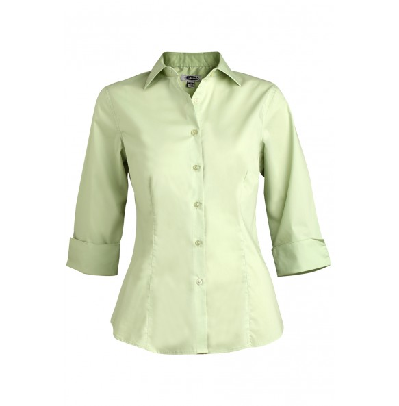 Ladies 3/4 Sleeve Stretch Collar Shirt