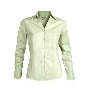 LADIES' TAILORED V-NECK STRETCH BLOUSE