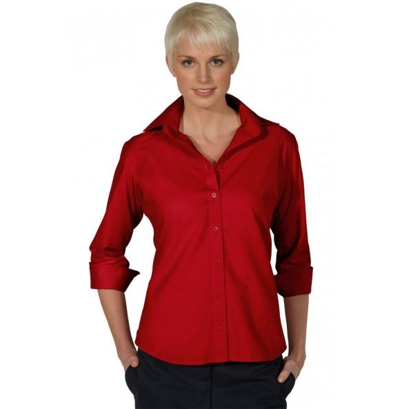 Poplin 3/4 Sleeve Dress Shirt