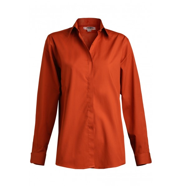 Cafe Shirt with Covered Front Placket