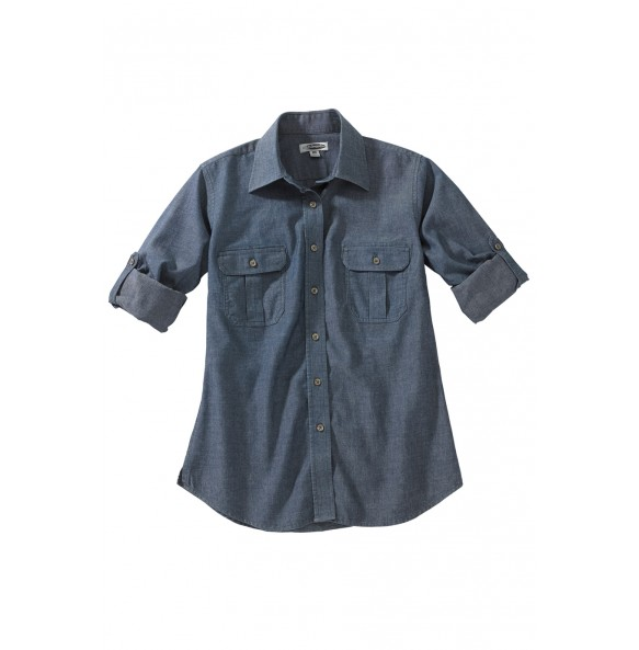 Chambray Roll-Up Sleeve Shirt
