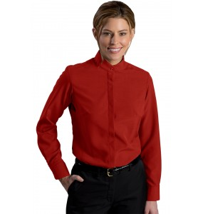 Batiste Banded Collar Dress Shirt