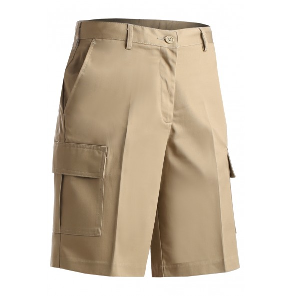Flat Front Cargo Shorts With Performance