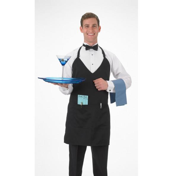 Formal V-Neck Tuxedo Apron
