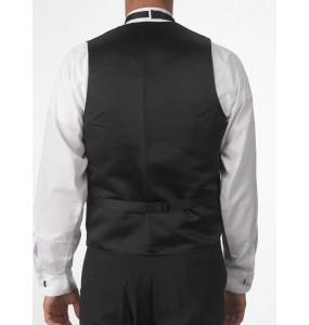 Adjustable Full-Back Gold Button Vest