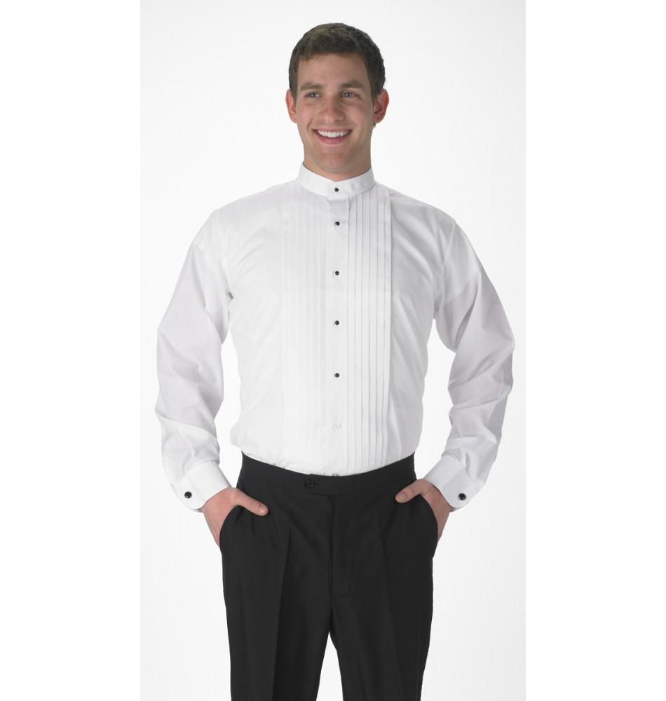 Men/'s Lay-Down Collar Tuxedo Shirt Size 3XL-32-33