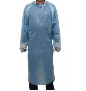 Disposable Gown with PEVA Nylon - 10 Pack