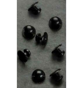 Black Plastic Shirt Studs - 144 pieces