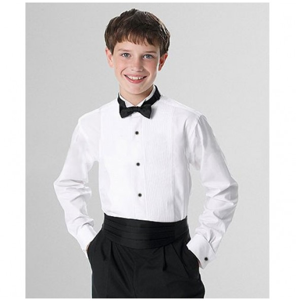 Boy's Wing Tip Collar Tuxedo Shirt