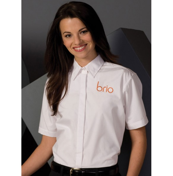 Café Shirt with Covered Front Placket