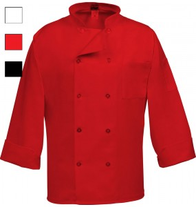 Short Sleeve Mesh Back Chef Coat (10 Buttons)