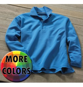 Stay-Dry™ Moisture Wicking Long Sleeve Polo