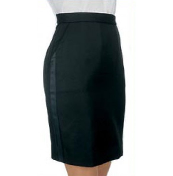 "Tuxedo Skirt, ""Above the Knee"""