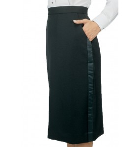 "Tuxedo Skirt, ""Below the Knee"""