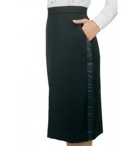 "Tuxedo Skirt, ""Below the Knee"""