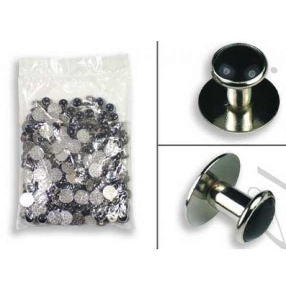 Silver Metal Shirt Studs - 144 pieces