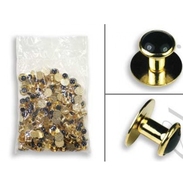 Gold Metal Shirt Studs - 144 pieces