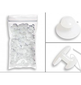 White Plastic Shirt Studs - 144 pieces