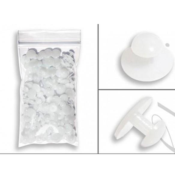 White Plastic Shirt Studs - 144 pieces