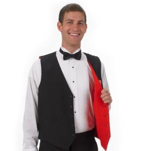 Reversible Full-back Formal Vest - Red/Black