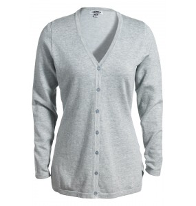 Ladies' V-Neck Fine Gauge Long Cardigan Sweater